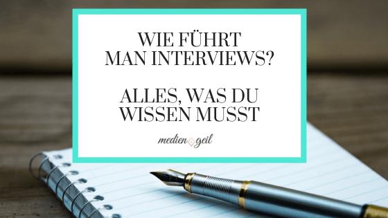 Blogbeitrag Wie führt man Interviews